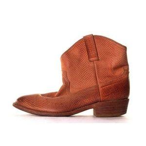 miz mooz ankle boots cabana western faux snake 8
